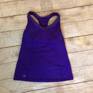 Purple Va Va Built in Bra Athleta Tank